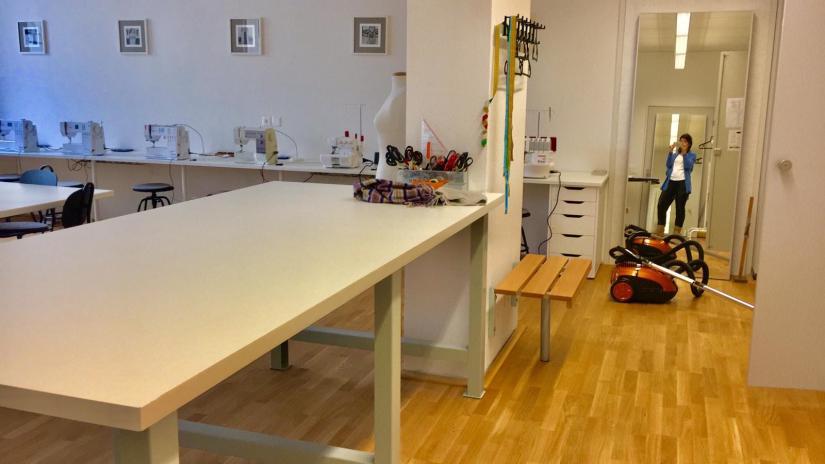 Das Näh Dich Schön Nähkurs Atelier ist frisch geputzt und poliert - ready für die 19!
